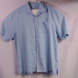 Tommy Bahama camp shirt blue size large